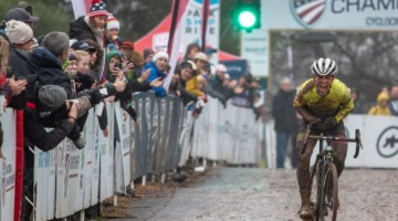 Morton wins the Junior Men 17-18 title, six years after starting cyclocross. 2018 Cyclocross National Championships, Louisville, KY. © A. Yee / Cyclocross Magazine