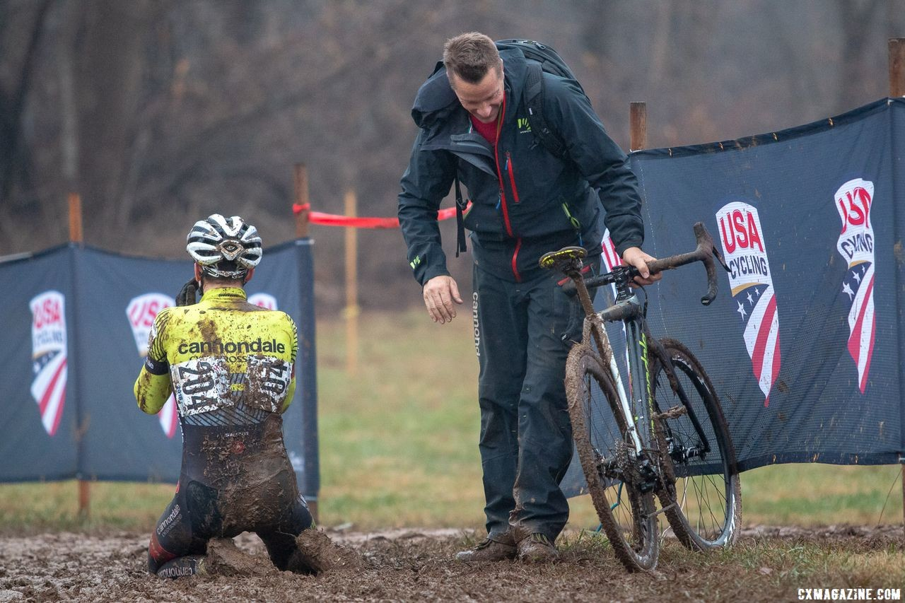 Devo riders in Thorne's program have had a lot of success. Alex Morton recently won the Junior Men 17-18. 2018 Cyclocross National Championships in Louisville, KY. © A. Yee / Cyclocross Magazine