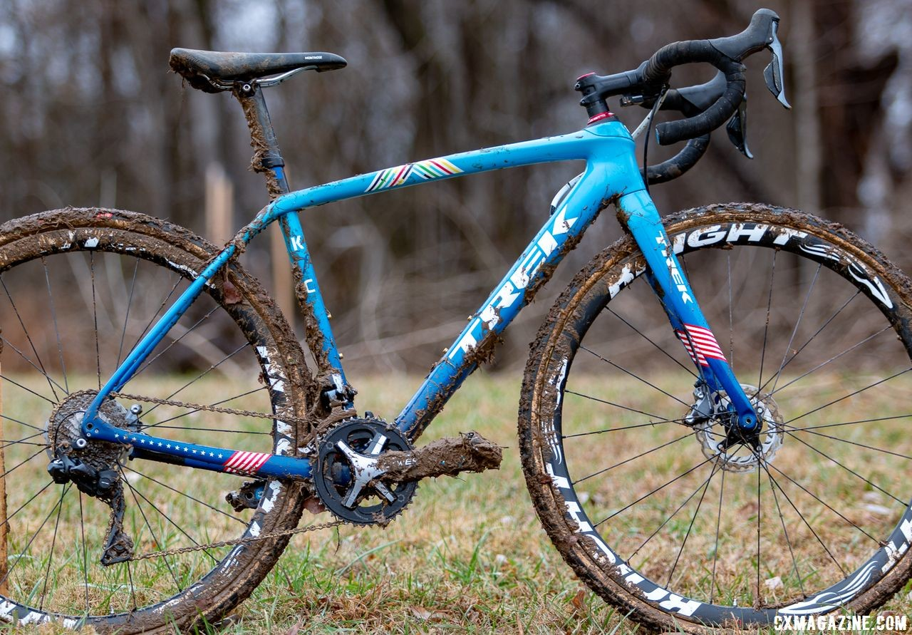 Katie Compton's 2018 Cyclocross National Championship-winning Trek Boone. Louisville, KY. © A. Yee / Cyclocross Magazine