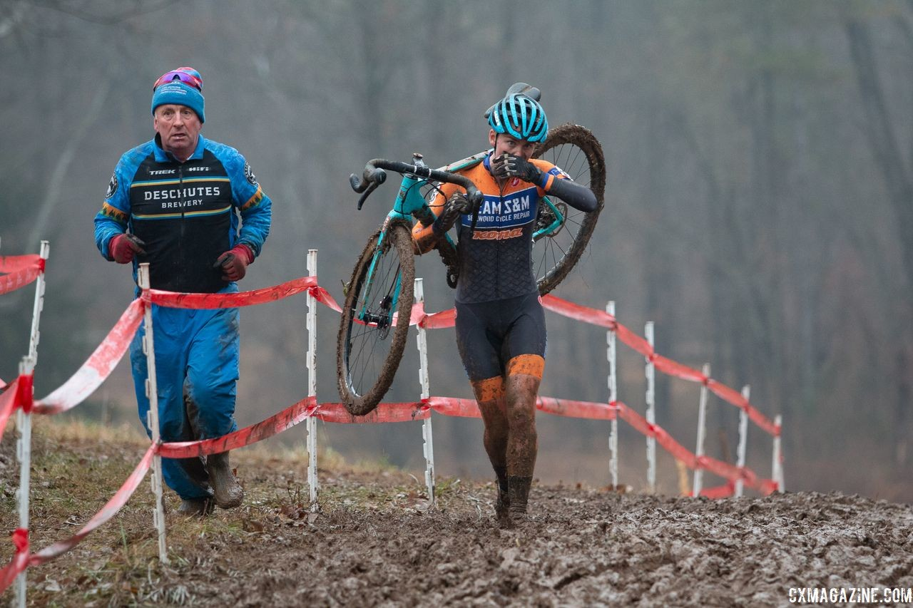 U23 Nats was a family affair for Sophie Russenberger and Team S&M CX. 2018 Cyclocross National Championships, Louisville, KY. © A. Yee / Cyclocross Magazine