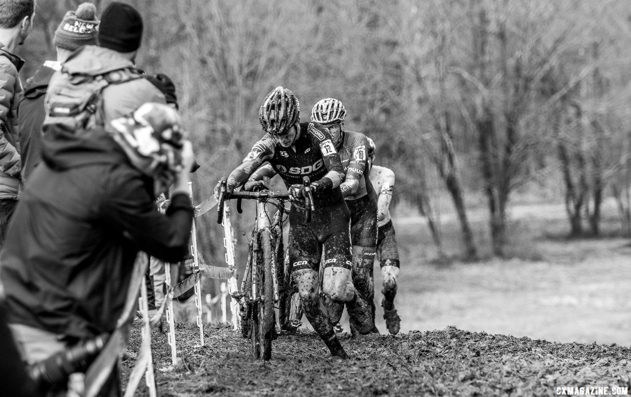 Drew Dillman had a strong ride and comeback year to finish fourth. Elite Men. 2018 Cyclocross National Championships, Louisville, KY. © A. Yee / Cyclocross Magazine