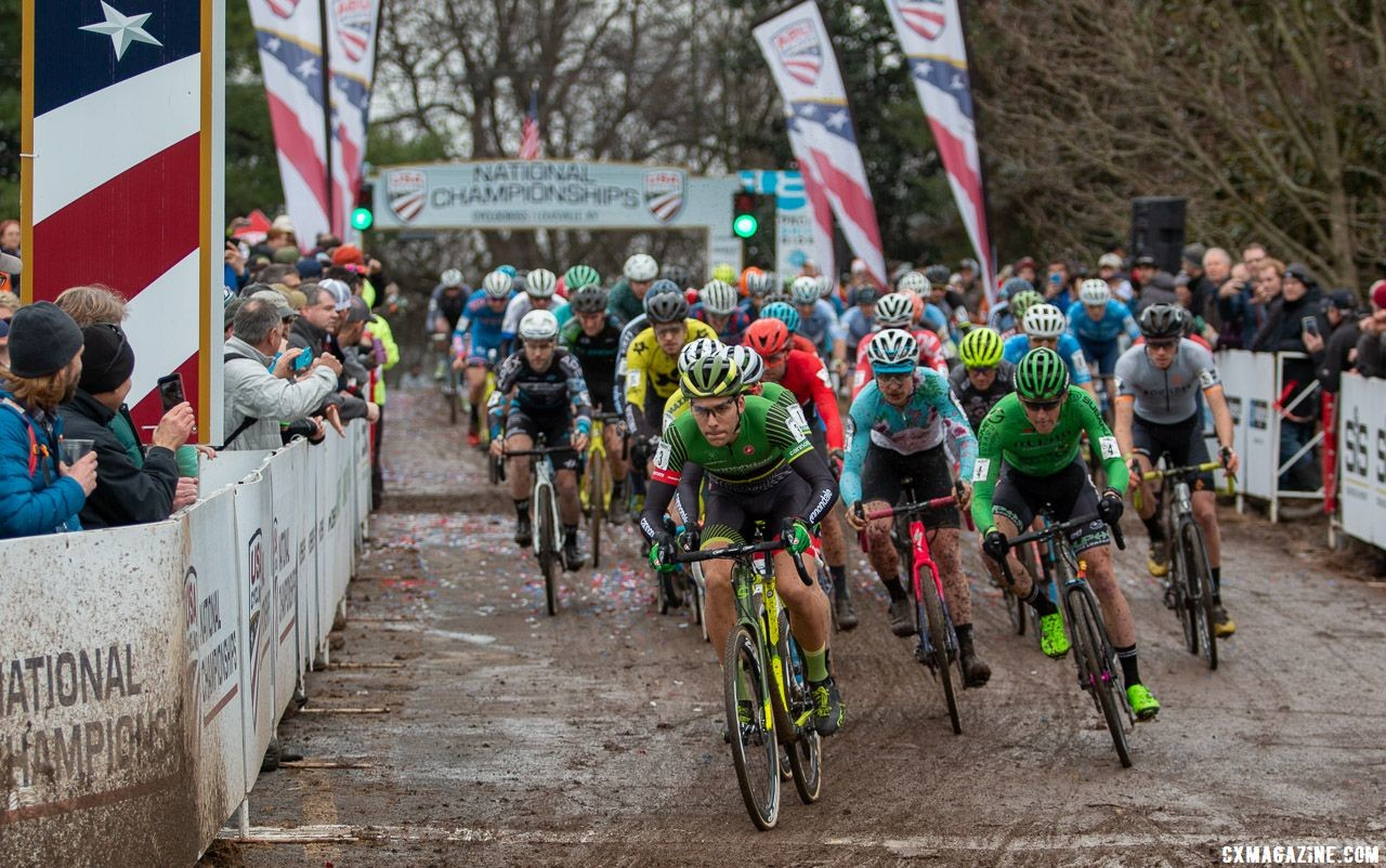 Elite Men. 2018 Cyclocross National Championships, Louisville, KY. © A. Yee / Cyclocross Magazine