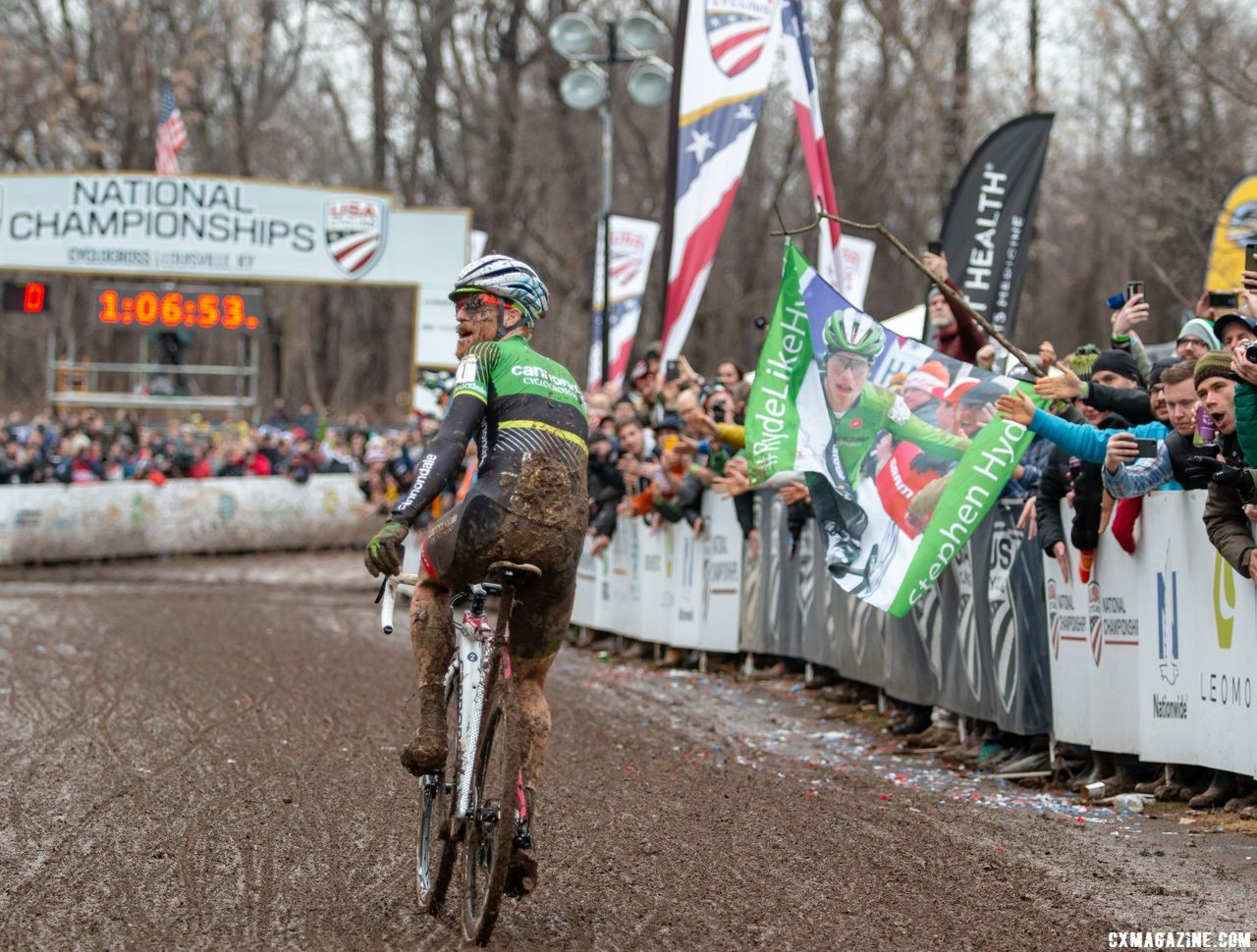 Stephen Hyde wins his third straight Elite Men's Cyclocross National Championship in Louisville, KY. © A. Yee / Cyclocross Magazine