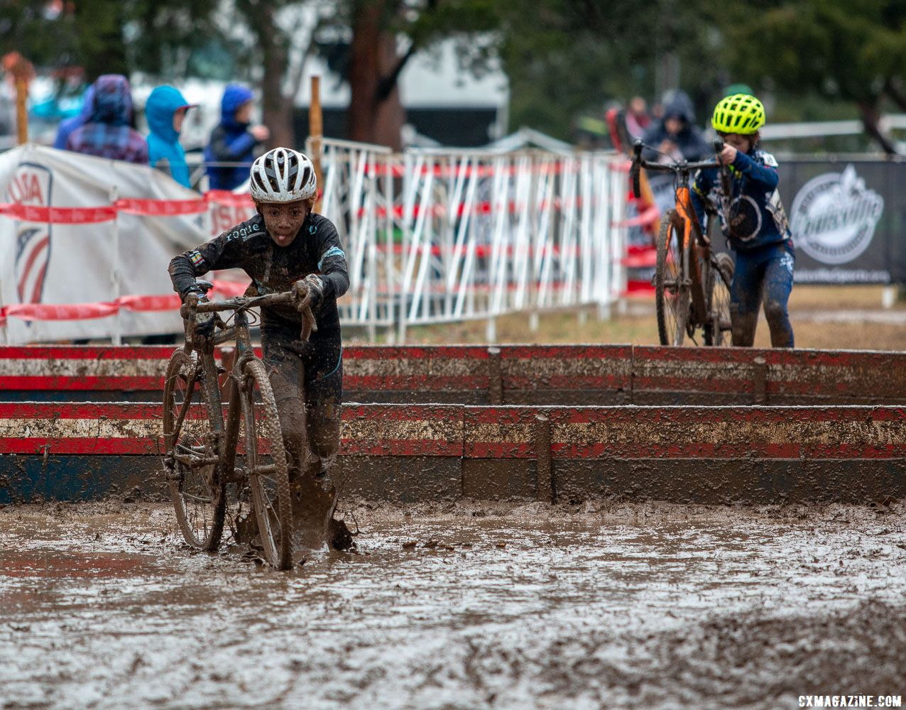 Waldman is hoping he'll be able to do things like ride cyclocross in the mud with his grand children. Junior Men 11-12. 2018 Cyclocross National Championships, Louisville, KY. © A. Yee / Cyclocross Magazine