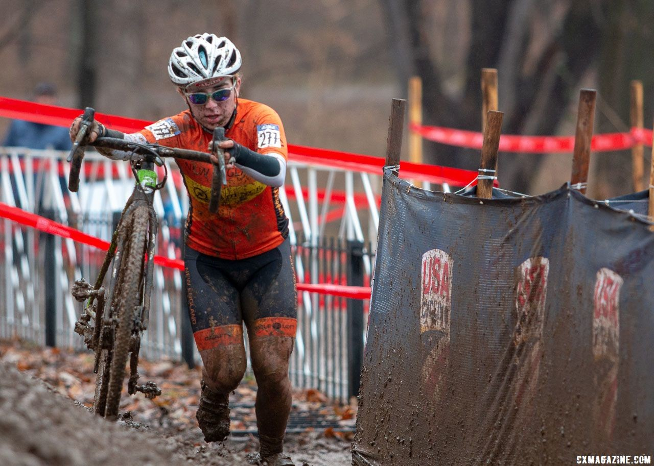 Kaia Schmid finished in bronze position in Louisville. Junior Women 15-16. 2018 Cyclocross National Championships, Louisville, KY. © A. Yee / Cyclocross Magazine