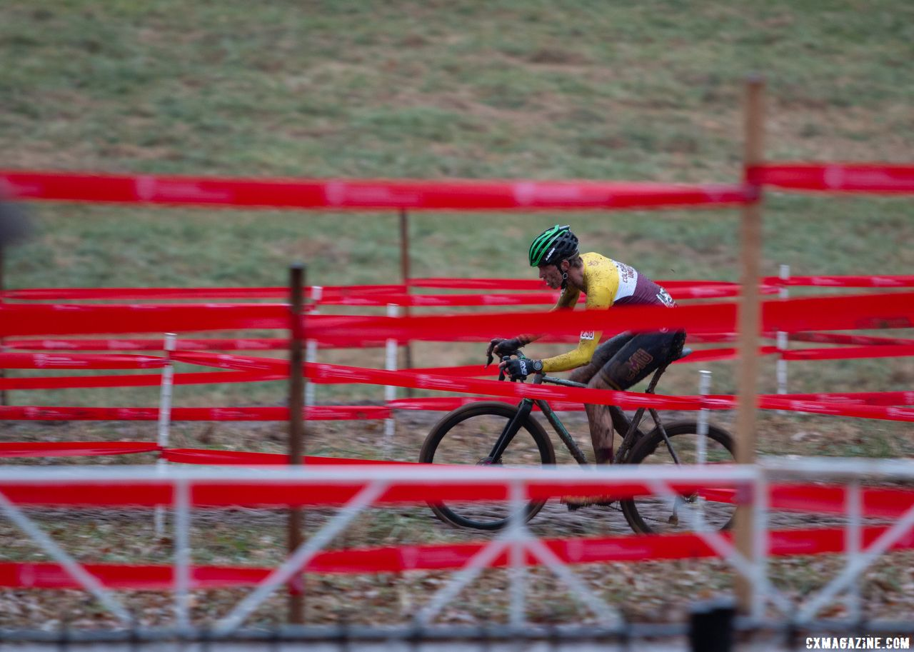 Brannan Fix raced to third. Collegiate Varsity Men. 2018 Cyclocross National Championships, Louisville, KY. © A. Yee / Cyclocross Magazine