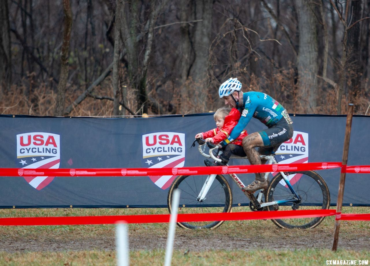 Myerson is looking forward to spending time with family in the off season. Masters Men 45-49. 2018 Cyclocross National Championships, Louisville, KY. © A. Yee / Cyclocross Magazine