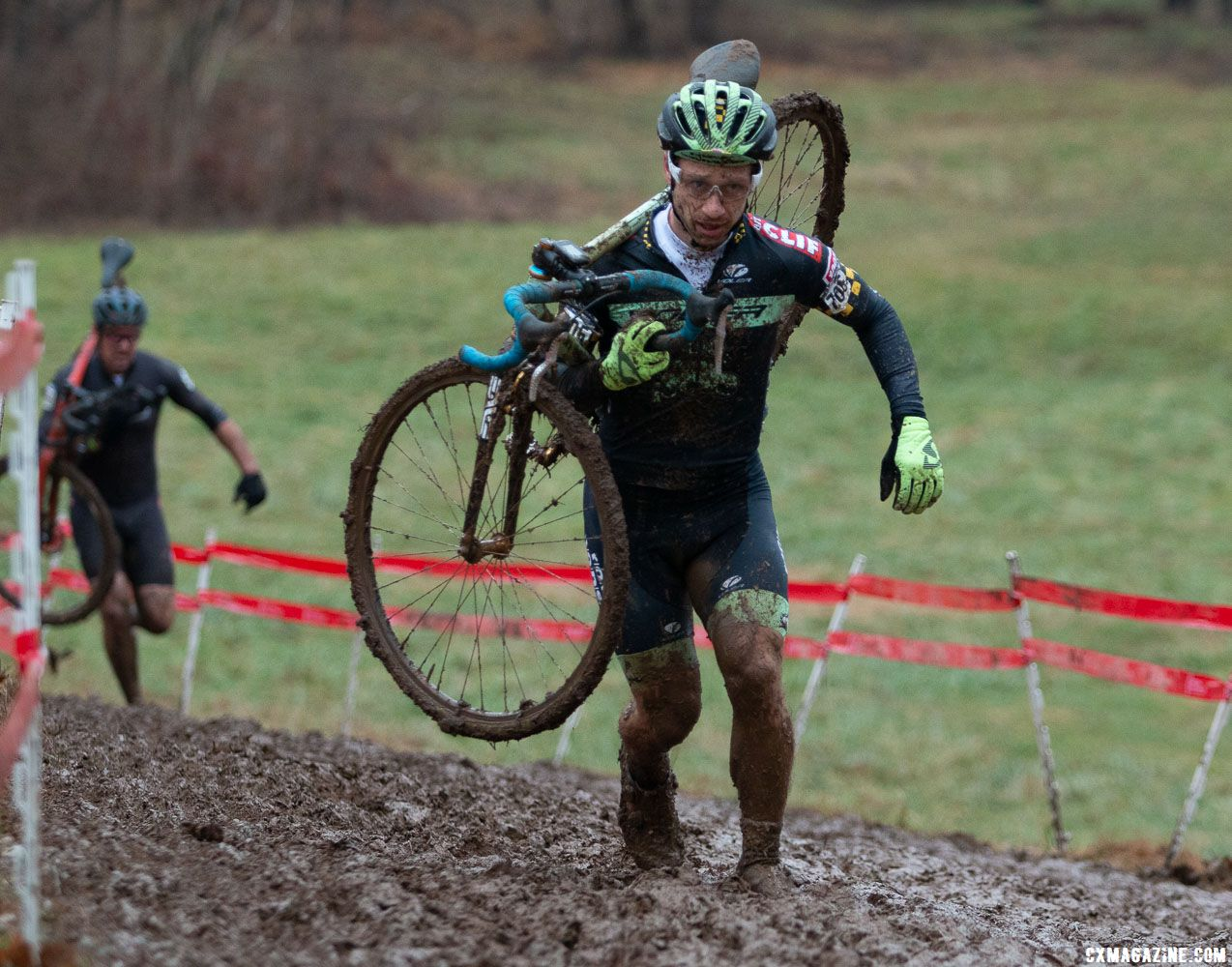 Max Judelson was at the front early on. Singlespeed Men. 2018 Cyclocross National Championships, Louisville, KY. © A. Yee / Cyclocross Magazine