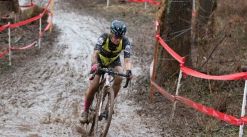 Strum learned descending skills at enduro races. Singlespeed Women. 2018 Cyclocross National Championships, Louisville, KY. © A. Yee / Cyclocross Magazine