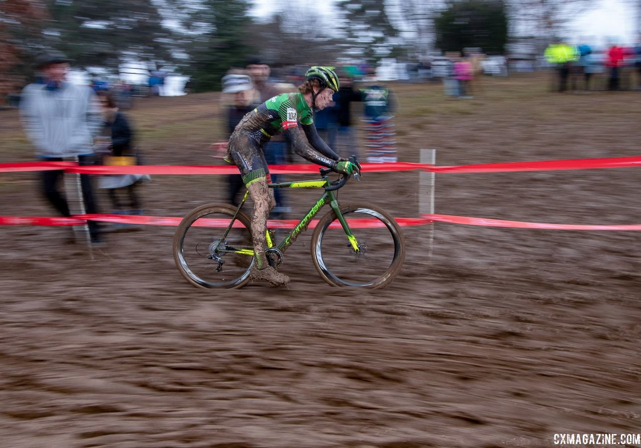 Spencer Petrov was back racing in the OVCX on Sunday. U23 Men. 2018 Cyclocross National Championships, Louisville, KY. © A. Yee / Cyclocross Magazine