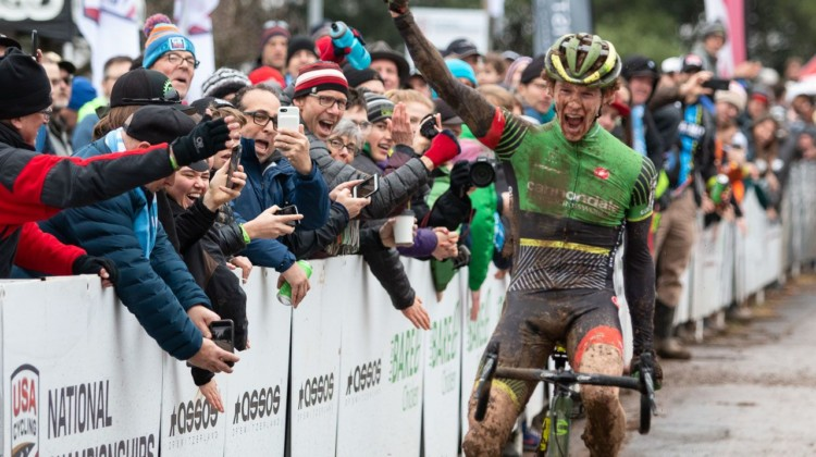 Spencer Petrov ran away with a win at U23 Nats. U23 Men. 2018 Cyclocross National Championships, Louisville, KY. © A. Yee / Cyclocross Magazine