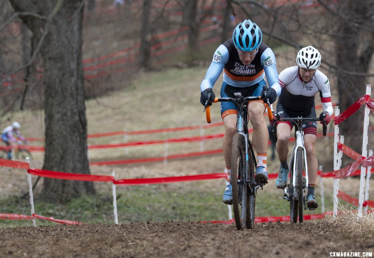 Craig Undem raced cyclocross in the 90s, but spent 15 years away from the sport before returning three years ago. Masters Men 55-59. 2018 Cyclocross National Championships, Louisville, KY. © A. Yee / Cyclocross Magazine
