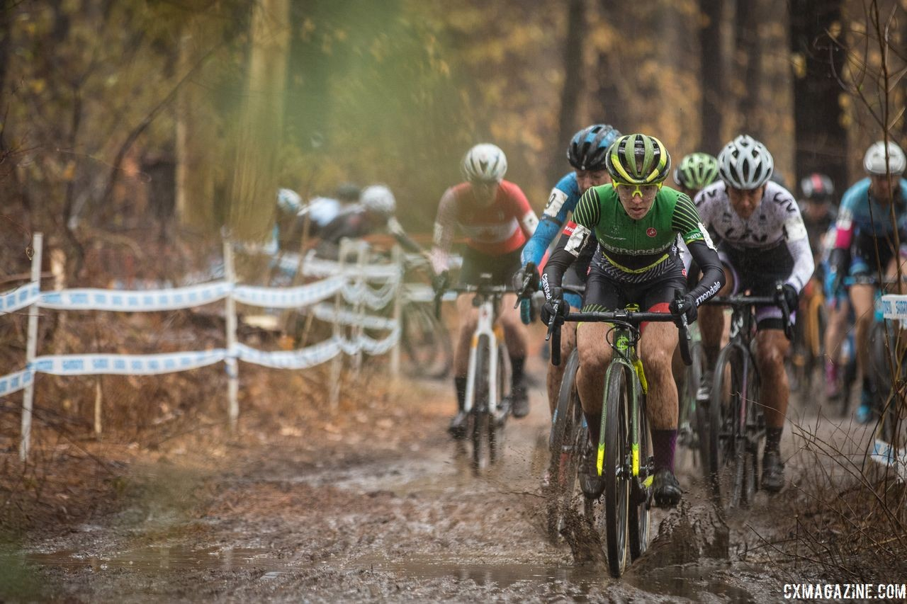 Keough led wire-to-wire to win on Sunday. 2018 NBX Gran Prix of Cyclocross Day 2. © Angelica Dixon