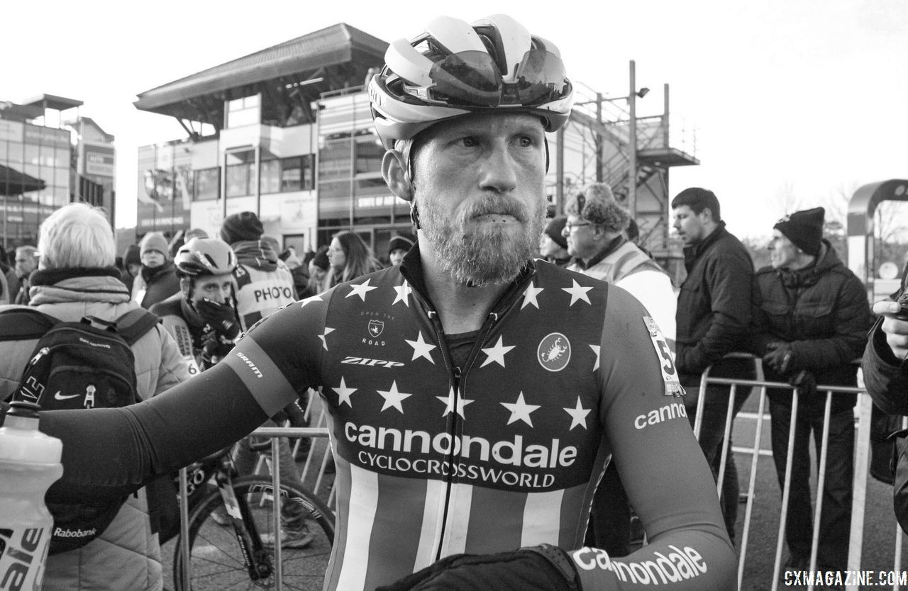 Stephen Hyde finished 17th on Wednesday. 2018 World Cup Heusden-Zolder. © B. Hazen / Cyclocross Magazine