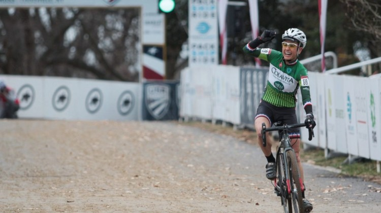 Stacey Barbossa was the boss in the Women's Masters 50-54 race Thursday. Masters Women 50-54. 2018 Cyclocross National Championships, Louisville, KY. © A. Yee / Cyclocross Magazine