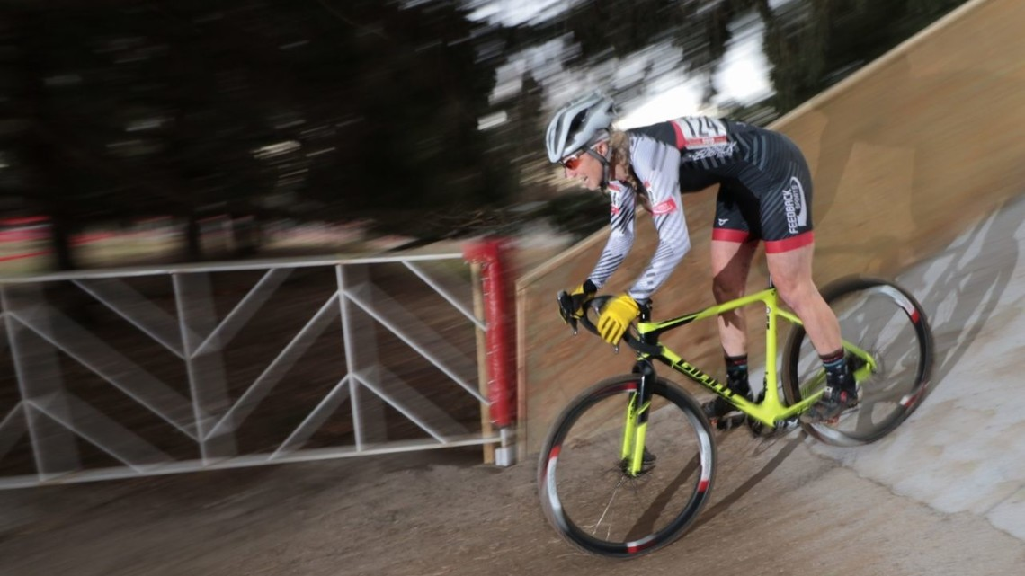 Melissa Barker took an impressive win on Thursday. Masters Women 40-44. 2018 Cyclocross National Championships, Louisville, KY. © A. Yee / Cyclocross Magazine
