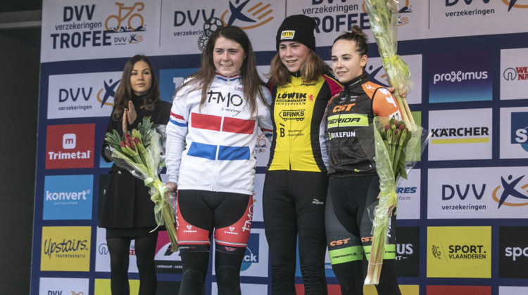 2018 Helen100 Trophy Junior Women Race, Azencross Loenhout. © Hans van der Maarel