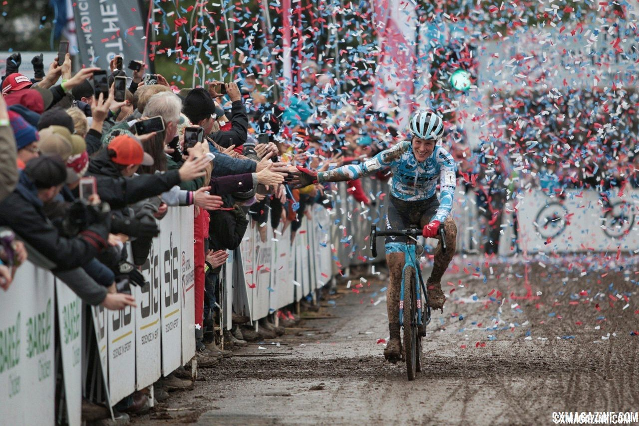 Picked against Katie Fn Compton at U.S. Nats? Cool story, bro. Elite Women. 2018 Cyclocross National Championships, Louisville, KY. © A. Yee / Cyclocross Magazine