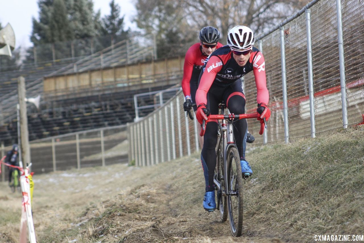 Bjorn Selander raced at the 2018 Midwest Cyclocross Championships in Wisconsin to get ready for Nationals. © Z. Schuster / Cyclocross Magazine