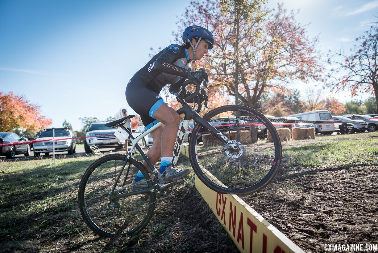 Marila Alvares finished second in the Women's 45+ race. 2018 CX Nation Cup / NCNCA District Championships. © Jeff Vander Stucken