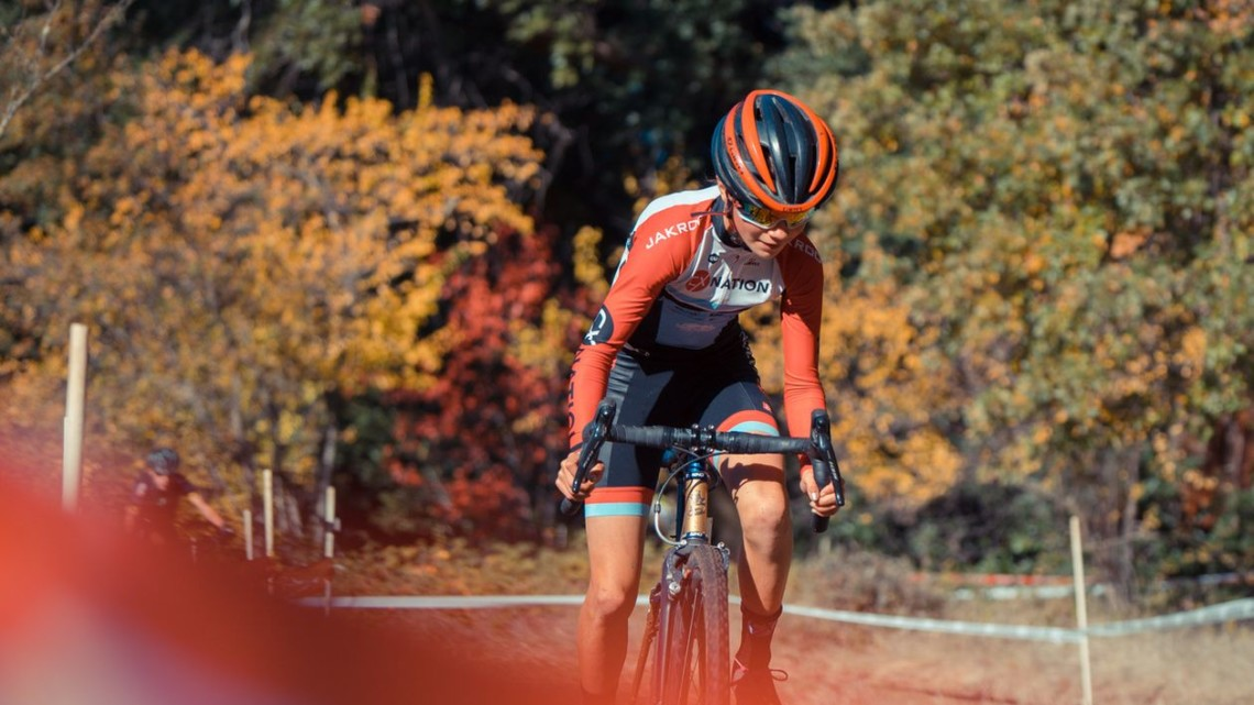 Vida Lopen de San Ramon won the Junior Women 11-13 race. 2018 CX Nation Cup / NCNCA District Championships. © Aaron Lesieur / Bixxel Media
