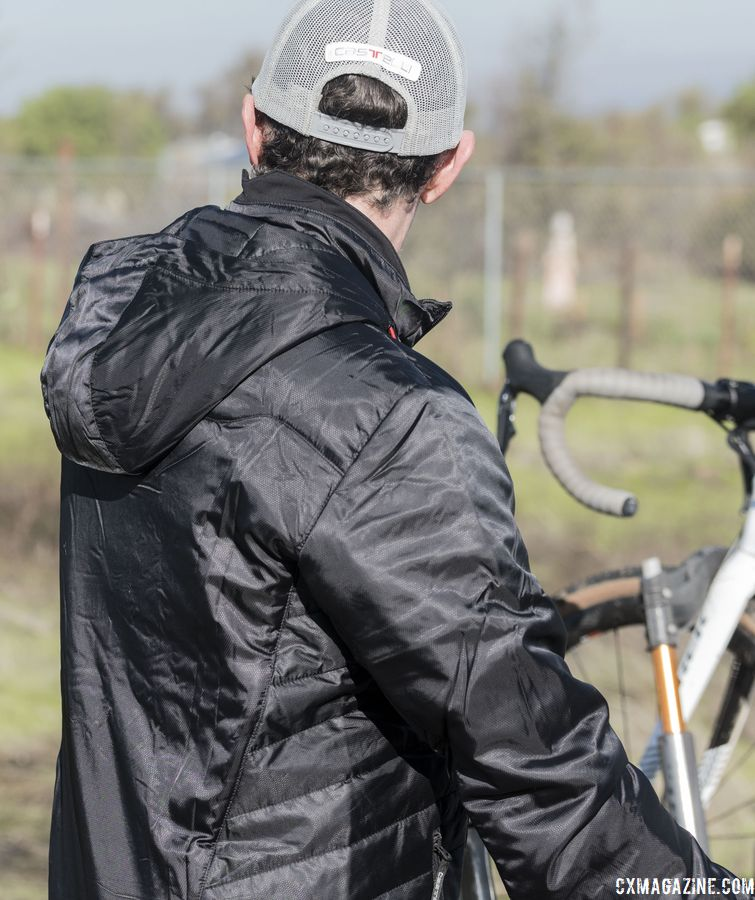 The Castelli Meccanico Puffy Jacket is made for keeping you warm and dry and costs $250. © C. Lee