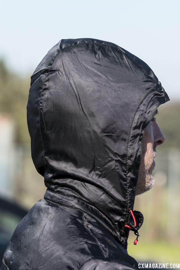 The Meccanico comes with a hood. Castelli Meccanico Puffy Jacket. © C. Lee