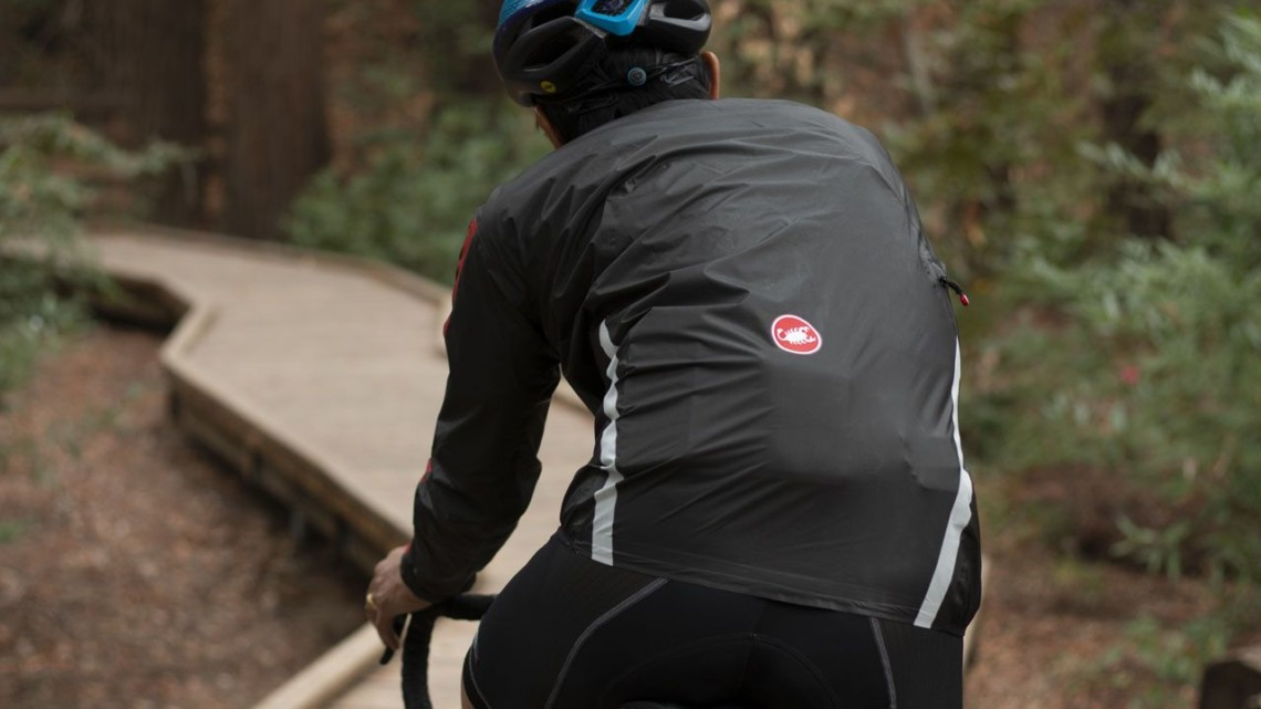 The Irdo 2 rain jacket is a lightweight jacket that sells for $300. Castelli Irdo 2 Rain Jacket. © A. Yee