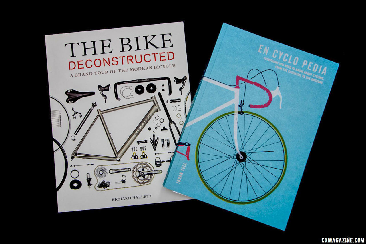 En Cyclo Pedia and The Bike Deconstructed offer detailed reference material that will inform and entertain experienced and new cyclists. Gift ideas for cyclists and cyclocrossers. © Cyclocross Magazine