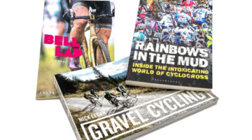 Get your cyclocross and gravel fix with the Bell Lap, Rainbows in the Mud, and Gravel Cycling books. Gift ideas for cyclists and cyclocrossers. © Cyclocross Magazine