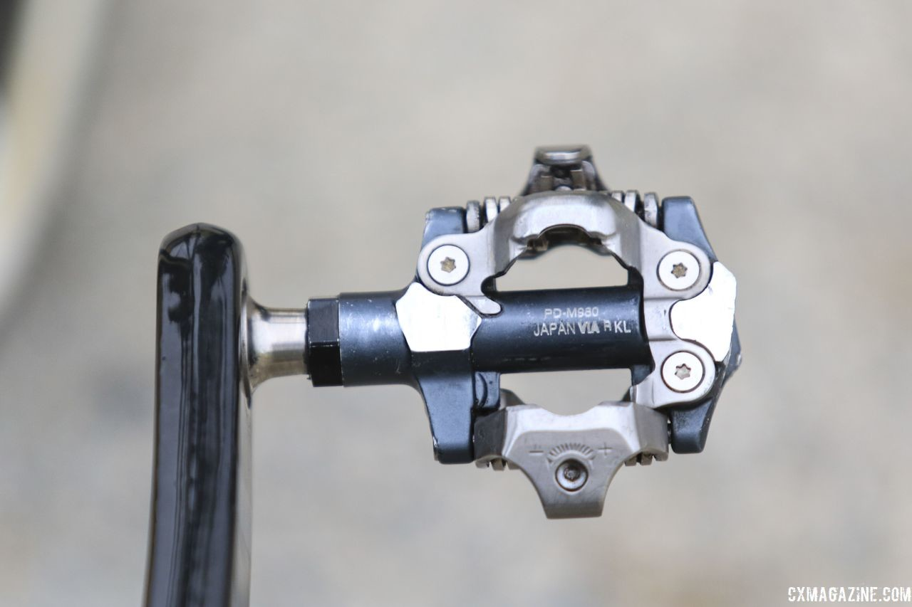 Richards uses XTR PD-M980 pedals, which are not known for their mud clearance. Evie Richards' 2018 Trek Boone Cyclocross Bike. © D. Mable / Cyclocross Magazine