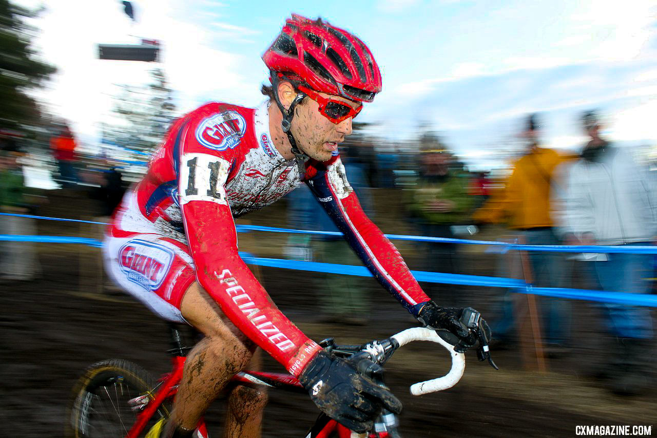 Jesse Anthony racing his last Nationals in 2010 in Bend, Oregon. © A. Yee / Cyclocross Magazine