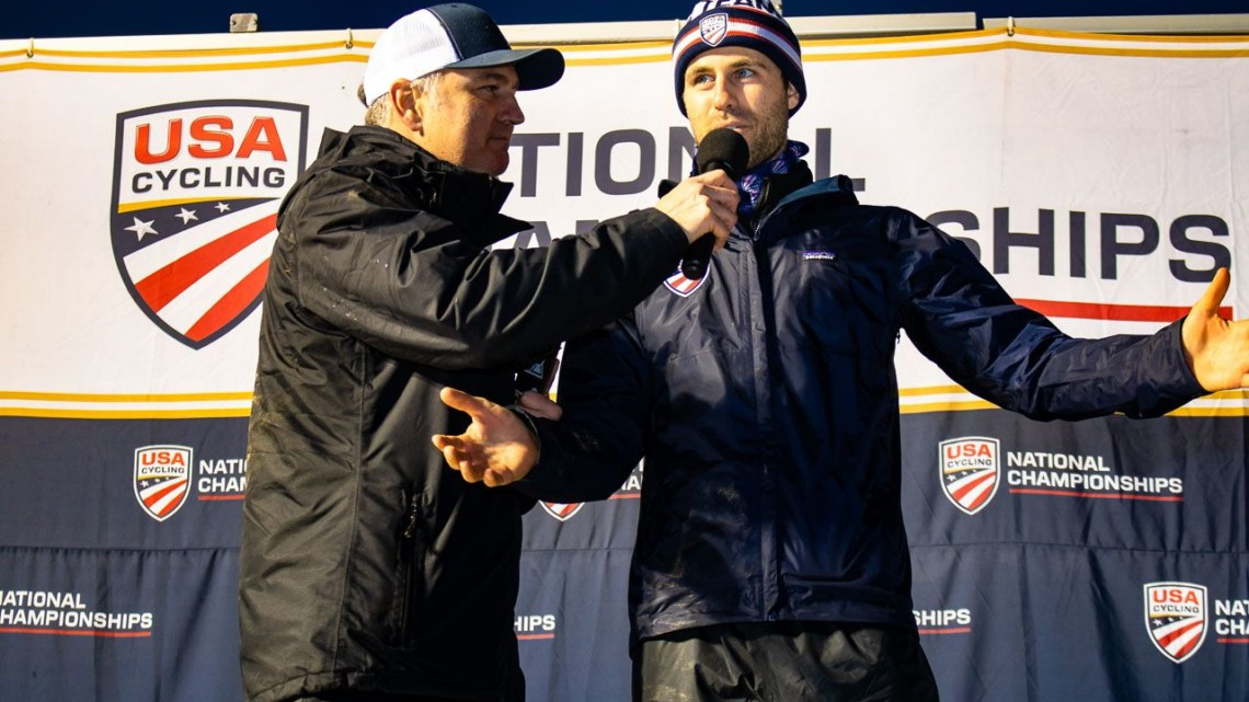 Jesse Anthony was introduced as the new Cyclocross Manager at the 2018 Cyclocross National Championships V2. Louisville, KY. © Cyclocross Magazine