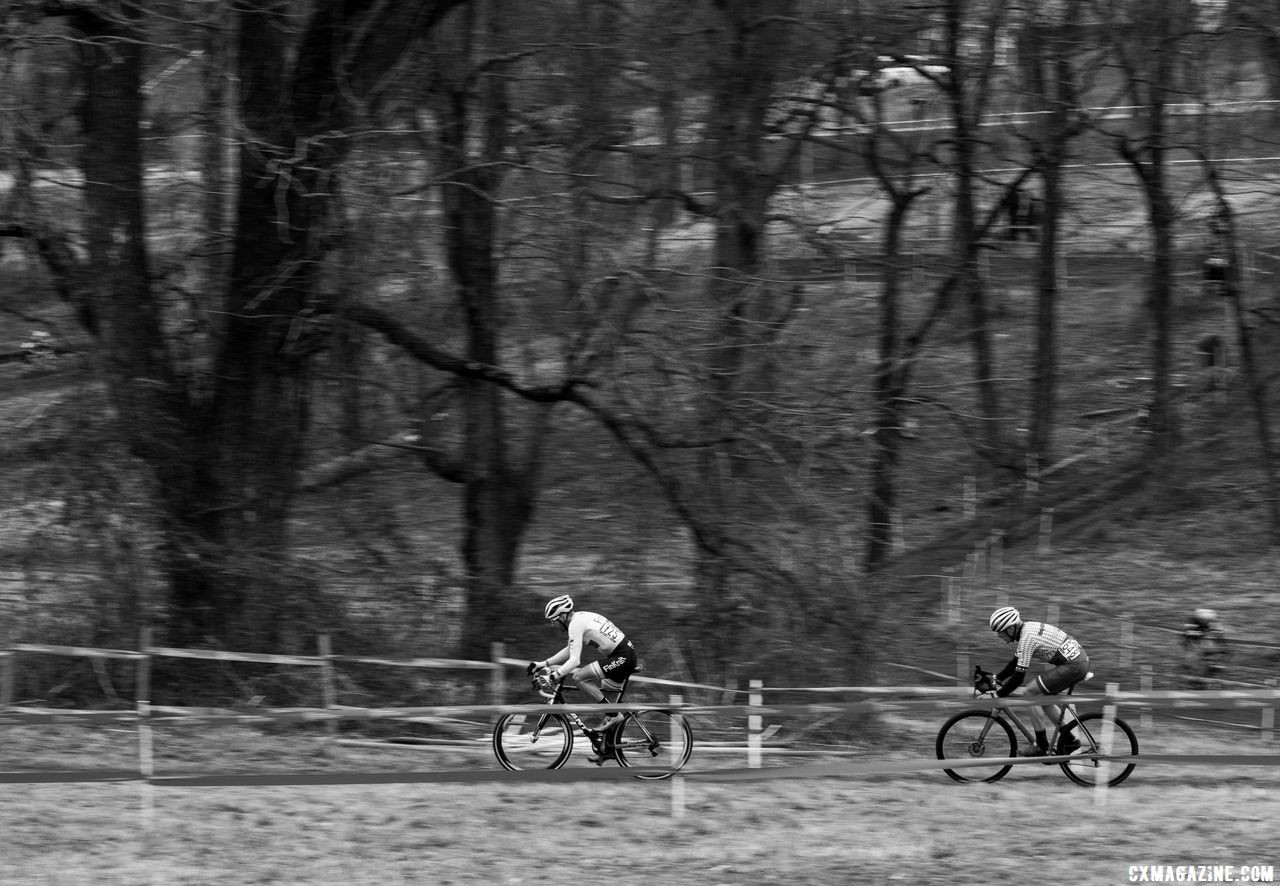 Asphlom and Myrah rode much of the race together. Masters 50-54. 2018 Cyclocross National Championships, Louisville, KY. © A. Yee / Cyclocross Magazine