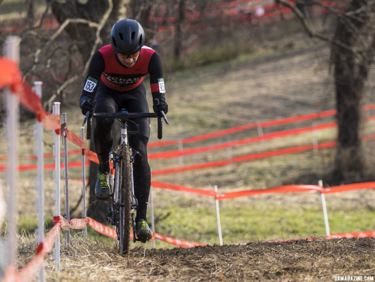 Dan Chabanov won the Baby Masters race at Louisville Nationals. Masters Men 30-34. 2018 Cyclocross National Championships, Louisville, KY. © A. Yee / Cyclocross Magazine