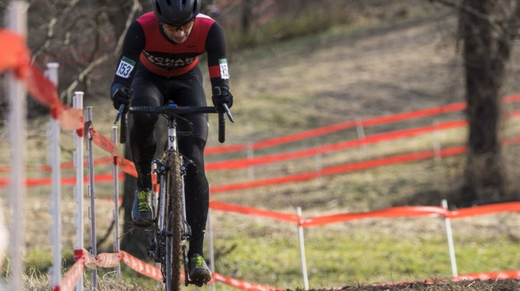 Once he got a gap, Chabanov did not let go of it. Masters Men 30-34. 2018 Cyclocross National Championships, Louisville, KY. © A. Yee / Cyclocross Magazine