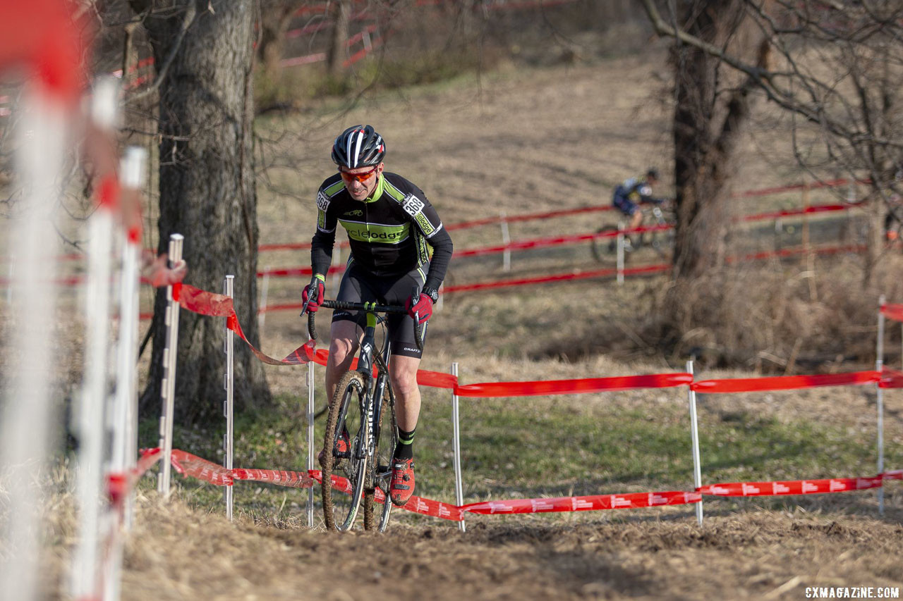 Callahan had a commanding early lead. Masters Men 60-64. 2018 Cyclocross National Championships, Louisville, KY. © A. Yee / Cyclocross Magazine