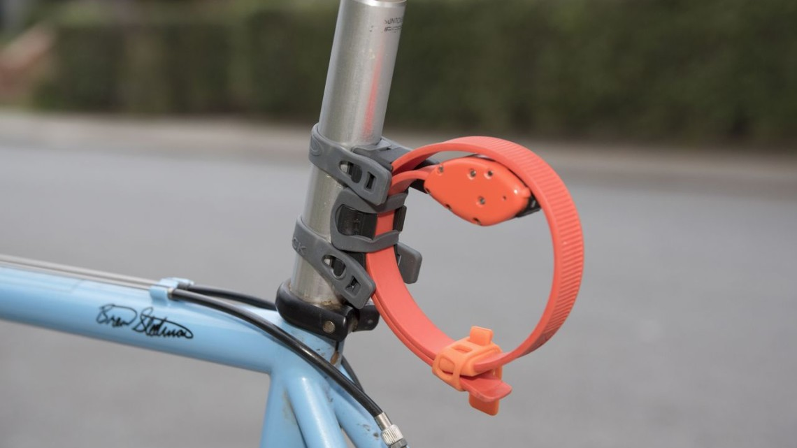 The $25 Pro Mount provides a convenient way of storing the lock. OttoLock bicycle lock. © C. Lee / Cyclocross Magazine