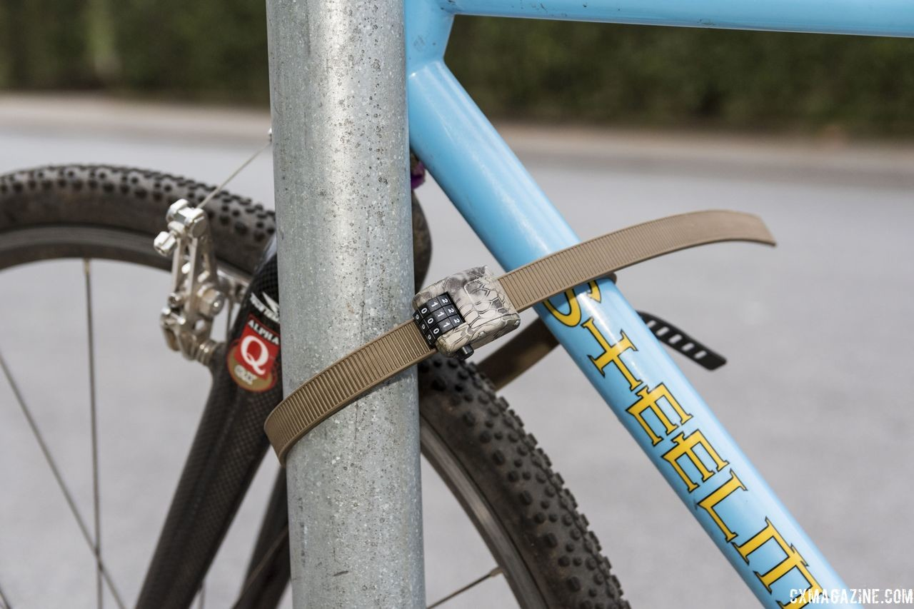 The OttoLock is a zip-tie style lock for use during short stops. OttoLock bicycle lock. © C. Lee / Cyclocross Magazine