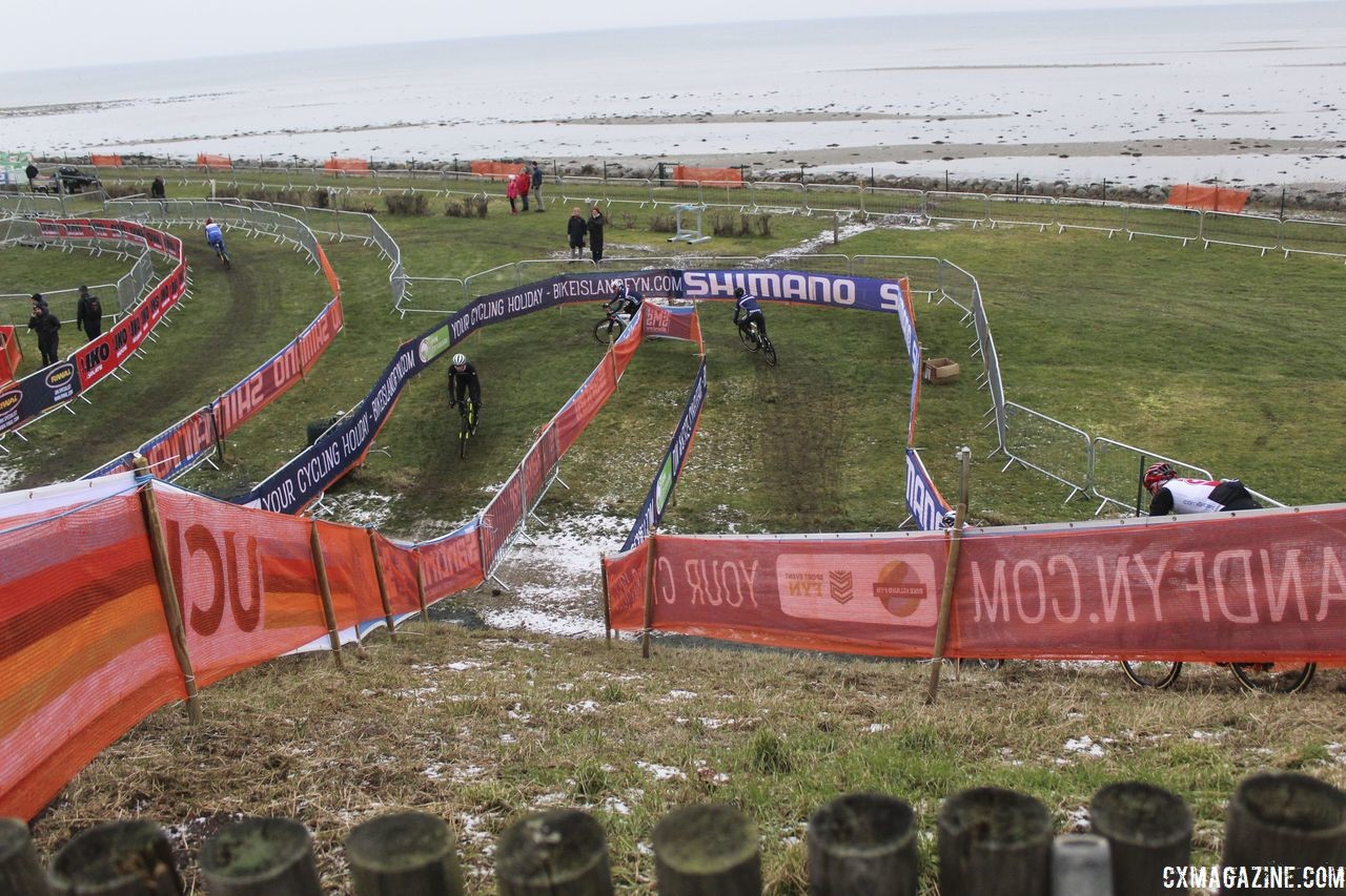 Down up down. 2019 Bogense World Championships Course Preview. © Z. Schuster / Cyclocross Magazine