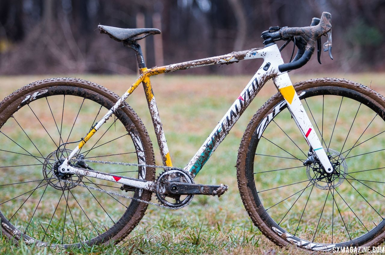 Sarah Sturm's title-winning singlespeed Specialized Crux. 2018 Cyclocross National Championships, Louisville, KY. © A. Yee / Cyclocross Magazine