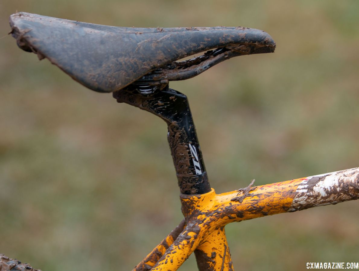 Sturm used a Specialized Power Arc saddle with a Service Course SL (20) 20mm offset seatpost. Sarah Sturm's title-winning singlespeed Specialized Crux. 2018 Cyclocross National Championships, Louisville, KY. © A. Yee / Cyclocross Magazine
