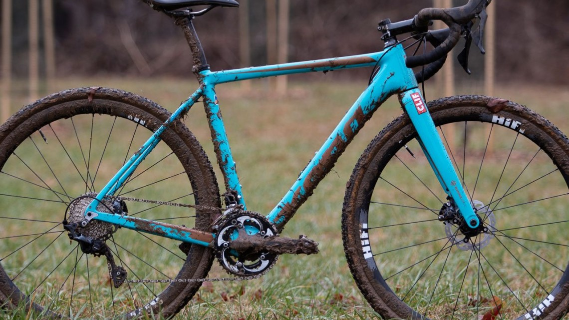 Clara Honsinger's Kona Major Jake cyclocross bike. 2018 Cyclocross National Championships, Louisville, KY. © A. Yee / Cyclocross Magazine