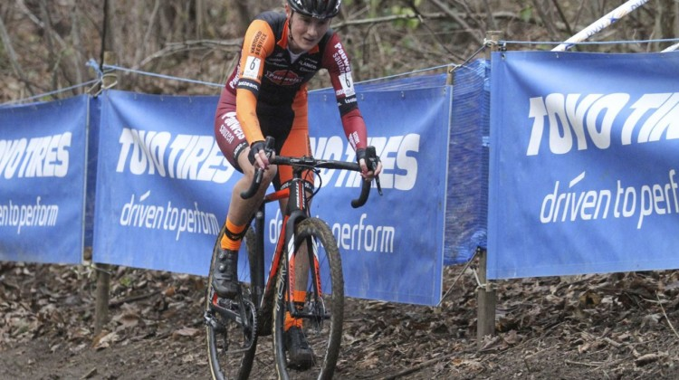 Loes Sels had a strong ride, finishing second after winning on Saturday in Gullegem. 2019 Brussels Universities Cyclocross. © B. Hazen / Cyclocross Magazine