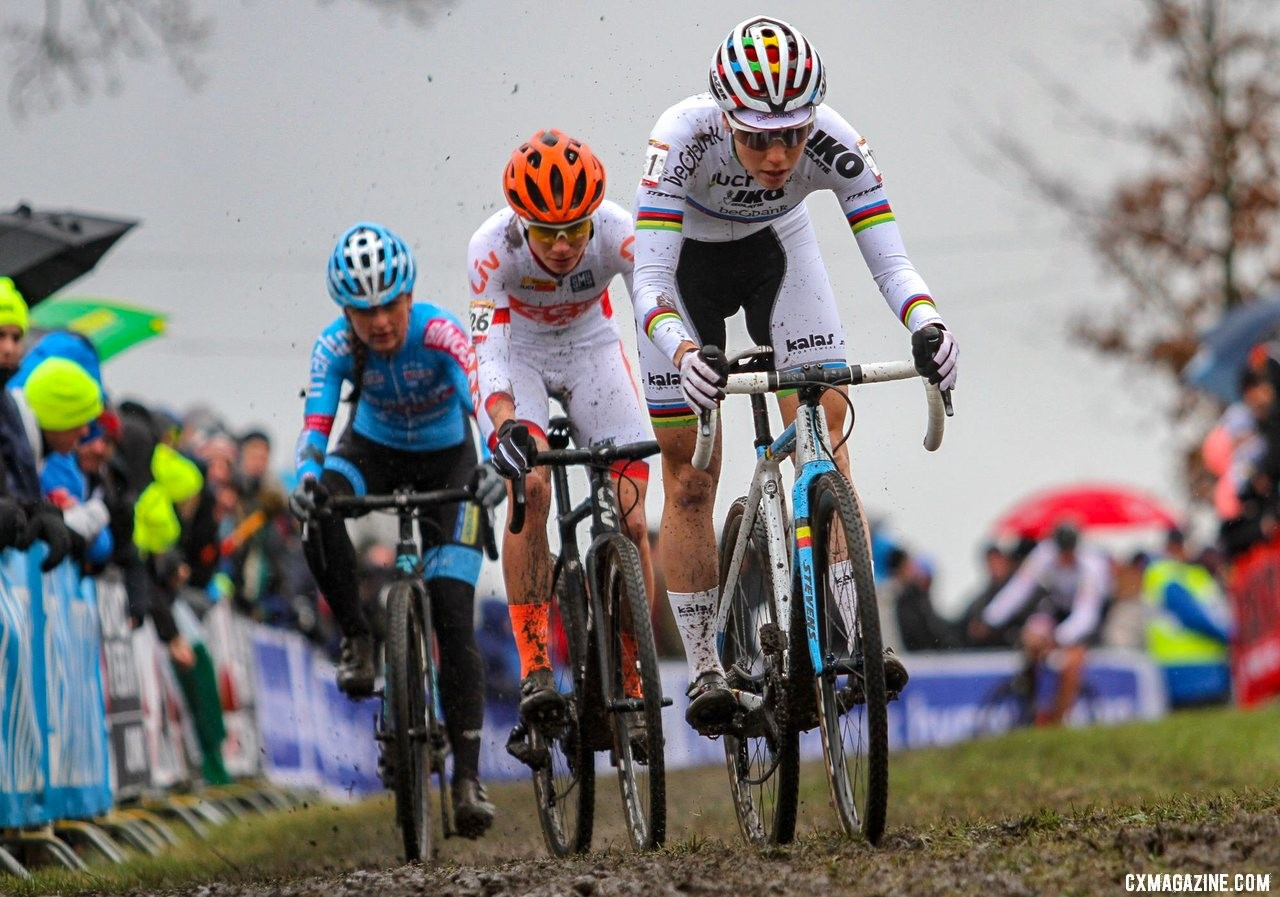 The top three in the final Women's UCI rankings. Elite Women. 2019 Hoogerheide World Cup, GP Adri van der Poel. © B. Hazen / Cyclocross Magazine