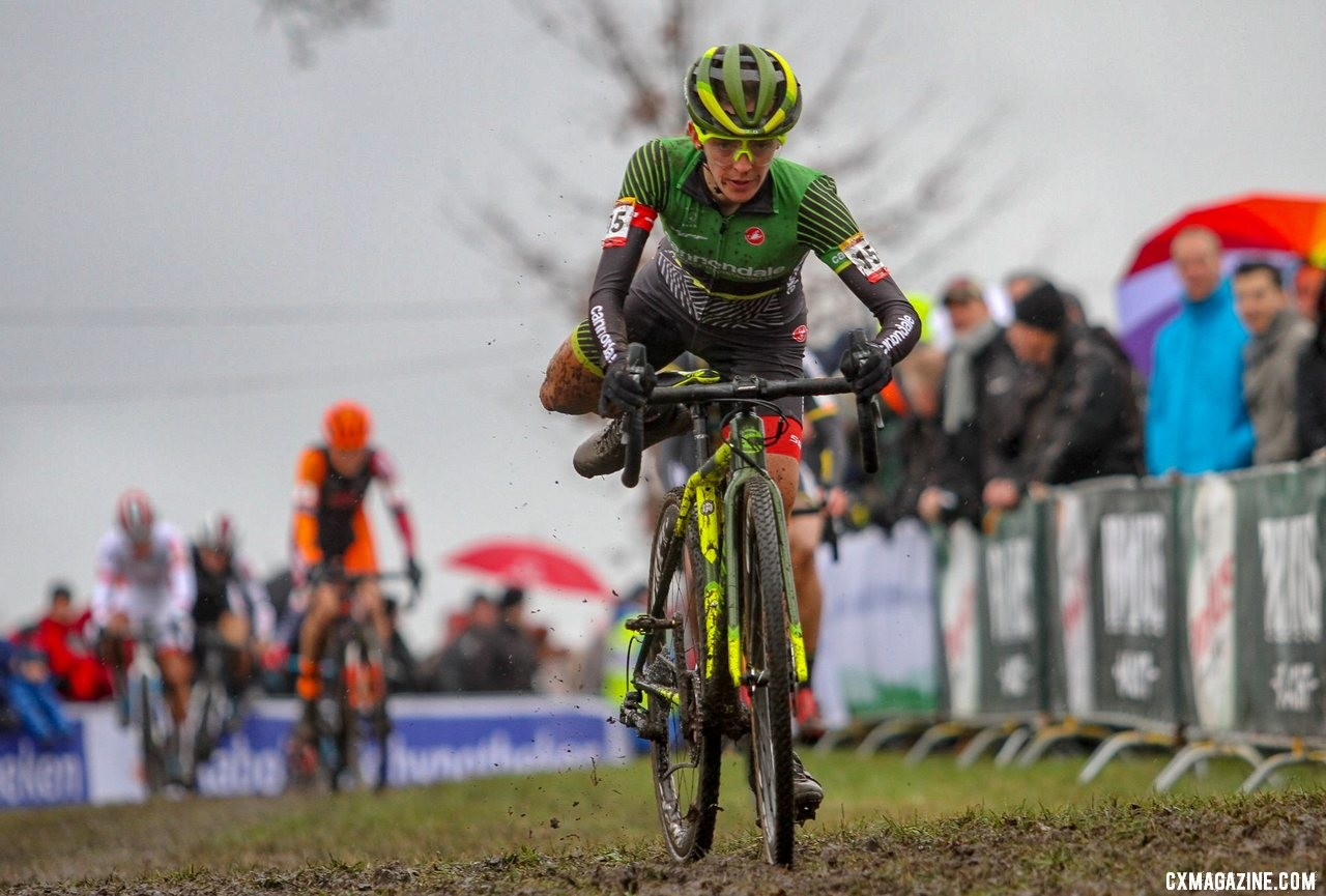 Kaitie Keough finished the season as the top North American woman. Elite Women. 2019 Hoogerheide World Cup, GP Adri van der Poel. © B. Hazen / Cyclocross Magazine
