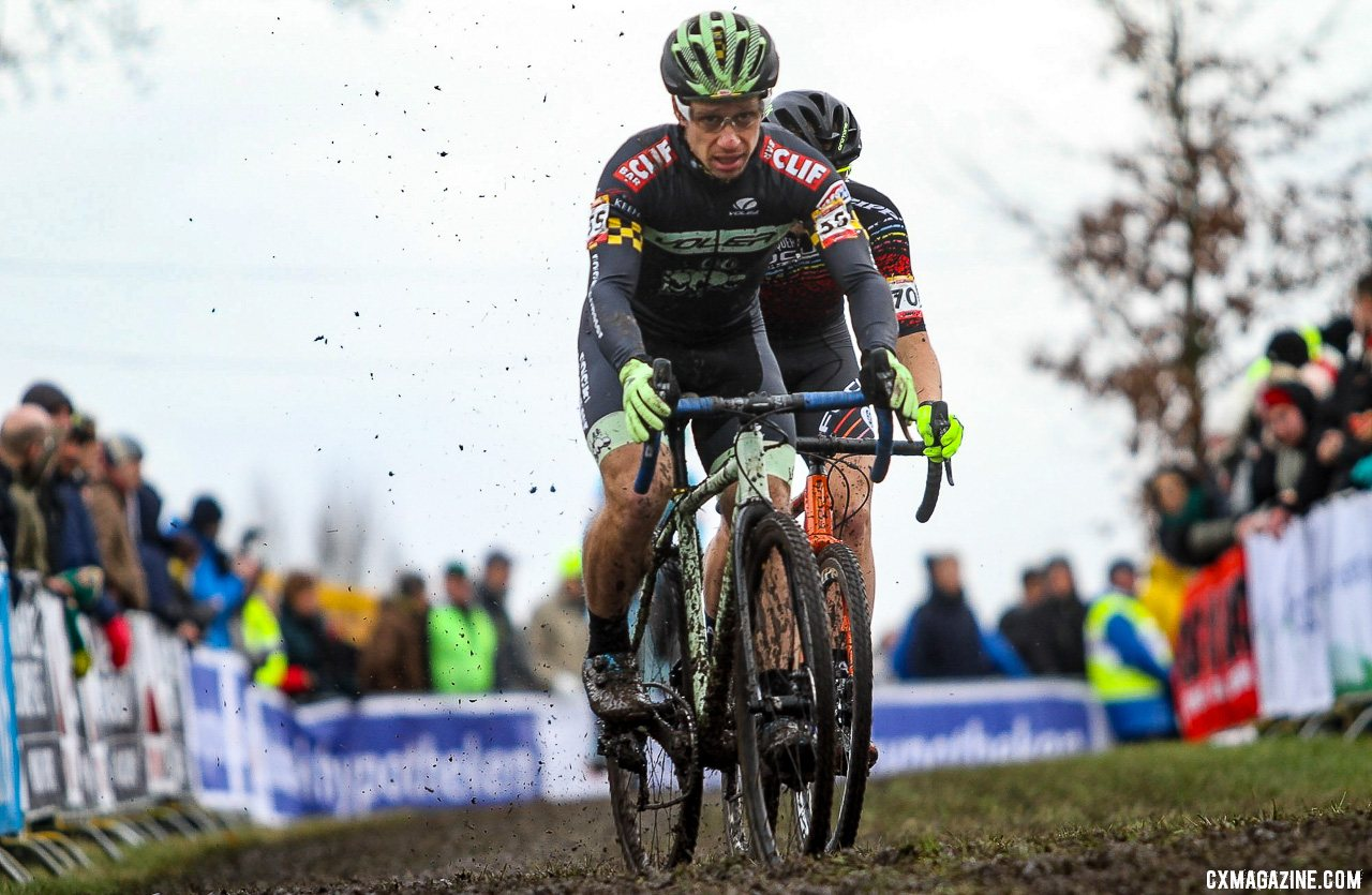 Max Judelson was just two spots behind Kaiser in 59th. Elite Men, 2019 Hoogerheide UCI Cyclocross World Cup. © B. Hazen / Cyclocross Magazine
