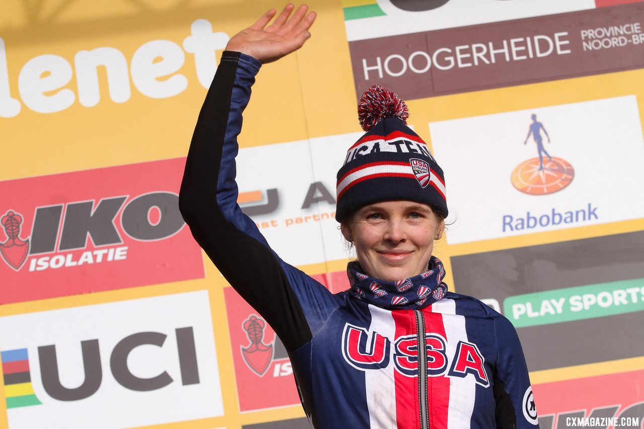 Honsinger showed fine form heading into Worlds with a U23 podium. Elite Women. 2019 Hoogerheide World Cup, GP Adri van der Poel. © B. Hazen / Cyclocross Magazine