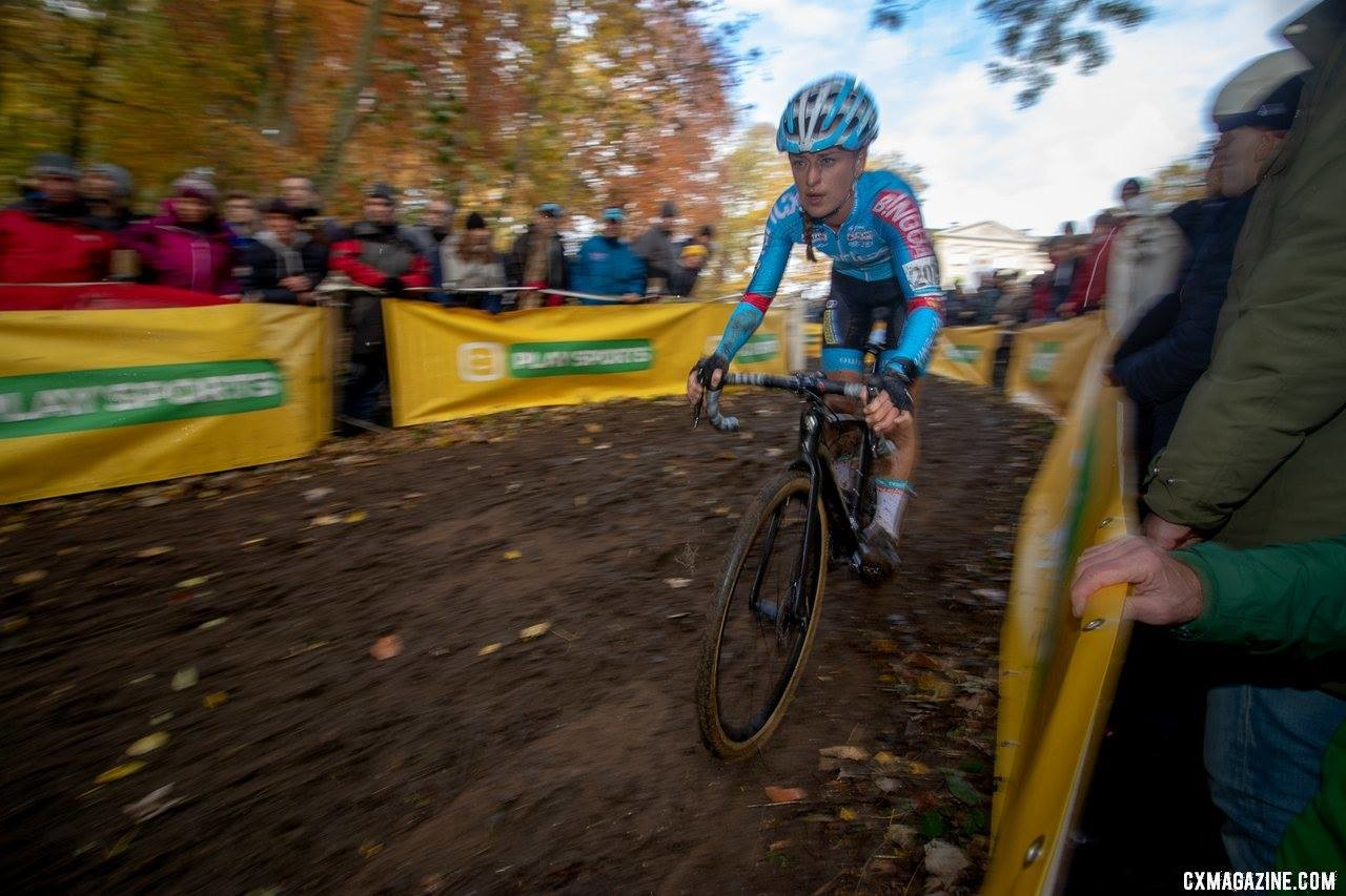 Denise Betsema has been the revelation of this cyclocross season. 2018 Superprestige Gavere. © A. Yee / Cyclocross Magazine