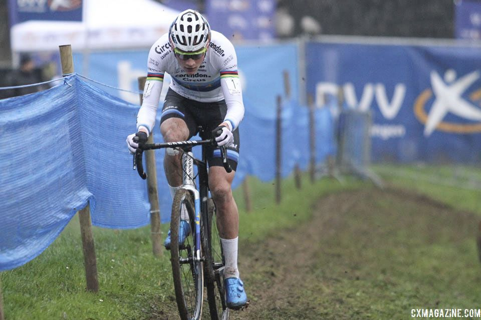 Mathieu van der Poel was the BMOC on Sunday in Brussels. 2019 Brussels Universities Cyclocross. © B. Hazen / Cyclocross Magazine